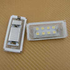 2PCS LED License Plate Lamp Light For BMW  E46 4D (98-03) white New