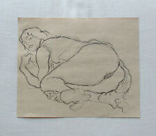 Gustav Klimt signed original pencil study (2nd out of 4) 'Danae' - approx. 1906