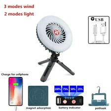 Portable Fan Light Solar Power Ventilation Air Conditioner Mobile Phone Charger