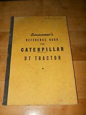 CaterpillarD7 Tractor Reference Book