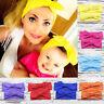 2Pcs/set Womens Baby Girl Elastic Bow Knotted Turban Hair Band Headband Headwear