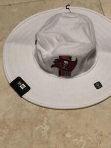 NFL New Era Tampa Bay Buccaneers Safari Bucket Adjustable Chinstrap Hat Cream Wh
