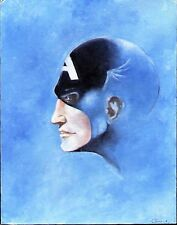 1970's CAPTAIN AMERICA ORIGINAL PAINTED ART CANVASBOARD OIL PAINTING TERRY EATON