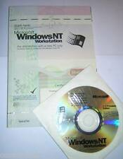Microsoft Windows NT 4.0 Workstation CD-ROM with COA and Start Here Guide