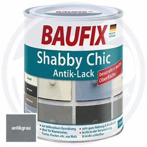 Baufix Buntlack Shabby Chic 750 ml Antikgrau Grau Holz Matt für 6m²