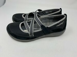 Womens DANSKO 'Hazel' Black Suede Mary Janes Comfort Shoes SIZE 36 US 5.5-6