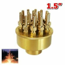 1.5'' 3-Layers 17-Sprinklers Brass Garden Pond Fountain Water Nozzle Spray Head