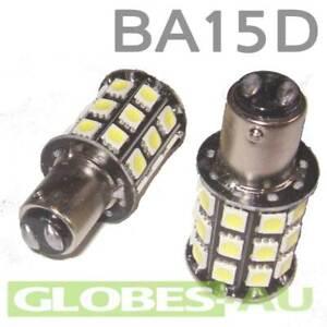 2x 12V LED BA15D LIGHT GLOBE WHITE 36 SMD 5050 Caravan Car Auto Indicator 1157