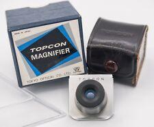 Rare Boxed - Topcon Super D DM SLR Camera Finder Magnifier & Flip Up Adapter
