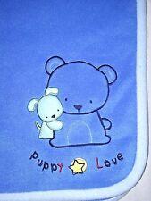 Carter's Child Of Mine Blue PUPPY LOVE Fleece Blanket Boys 30x35 Lovey Bear Dog