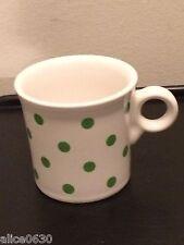 2016 HLCCA FIESTA WARE Green Shamrock Dots On White Tom & Jerry Mug. Exclusive