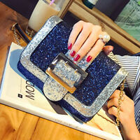 Women Sequins Chain Shoulder Bag Cross Body Bags Shining Messenger Bag