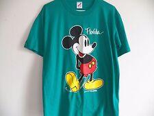 Vintage 90s MICKEY MOUSE FLORIDA Velva Sheen Walt Disney Soft thin T-Shirt Large