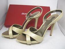 Salvatore Ferragamo women sandals heel platform Dalila slingback ivory 10