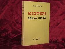 Libro Misteri della Città Prima Edizione Partigiano Arrigo Benedetti 1941