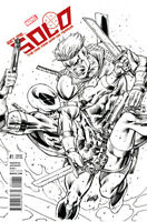 SOLO #1 Rob Liefeld 1:100 Sketch Variant Deadpool NM