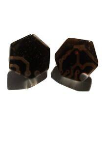 SOBRAL  geometric computer post earrings