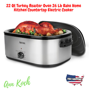 22 Qt Turkey Roaster Oven 26 Lb Bake Home Kitchen Countertop Electric Cooker NEW