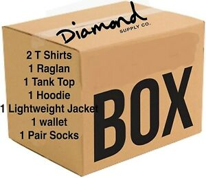 New Diamond Supply Co. Box Assorted Mens T Shirts Hoodie Jacket Wallet Socks