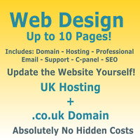WEB DESIGN - DOMAIN & HOSTING - RESPONSIVE WEBSITE - UPDATE IT YOURSELF - SEO