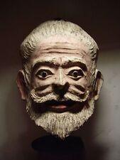 ANTIQUE HEAD OF A HINDU HOLYMAN 'SADHU', PAPIER MACHE & MAGIC HERBS MASK. 20th C