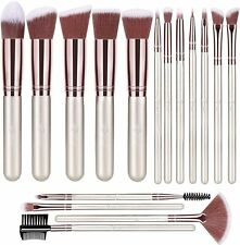 BESTOPE Makeup Premium Synthetic Foundation Brushes - Set of 16- Champagne Gold