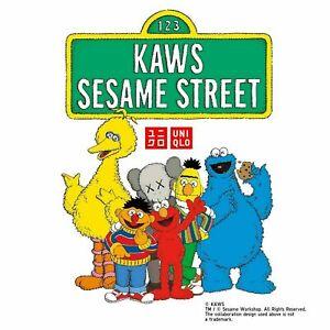 "KAWS X UNIQLO X SESAME STREET 18"" Plush Toys Limited Edition 100% Authentic"