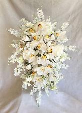 Queen Elizabeth II Coronation Replica Bridal Bouquet ~ Silk Wedding Flowers New!