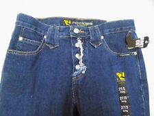 New Vtg Rockies Western Blue Jeans Slim Fit Relaxed LONG Jr 5 31x34 RA333ABD