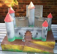 château fort jouet démontable en bois et carton années 1950/60 elastolin timpo