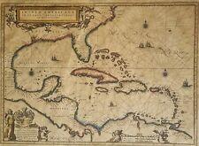 Antique. Map. Insvlae Americanae in Oceano Septentent. Map by D'Alberto Conradi.
