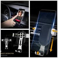 Car Ventilation Phone Holder Free Adjustable Silver Smart Smartphone Accessories