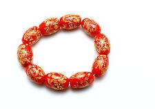 10 PCS Handmade Lampwork Glass Beads set Charm Bracelet Rondelle Murano (Red)