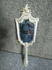 French Silver hand mirror ornate decoration Top quality Hall marked