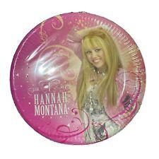Nagelneue Pack von 10 Disney Channel Hannah Montana Party Pappteller selten