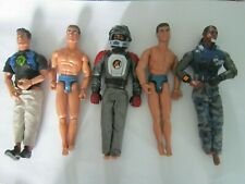 job lot of 5  hasbro action man figures 1999  2003  2004