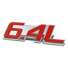 AUTO METAL BUMPER TRUNK GRILL FENDER EMBLEM STICKER BADGE CHROME RED 6.4 6.4L