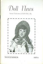 1974 Doll News Magazine United Federation of Doll Clubs (November)