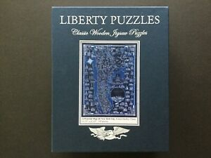Liberty Puzzles Classic Wooden Jigsaw Pictorial Map Of New York City 743 Pieces
