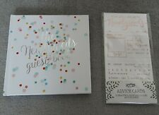 Hard back Wedding Newlyweds Guest Book + Ginger Ray Advice Cards