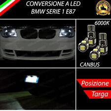 LUCI POSIZIONE A LED + LUCI TARGA A LED CANBUS BMW SERIE 1 E87 NO ERROR