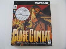 Close Combat -Microsoft - SEALED - Vintage Big Box Computer Game Windows 95 CD