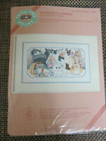 Purrfect Garden Cats Kitten Counted Cross Stitch Kit NIP Eileen Hayes Dimensions