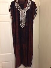 Accessorize Tie Dye Red Embroidered Maxi Dress Size 12-14