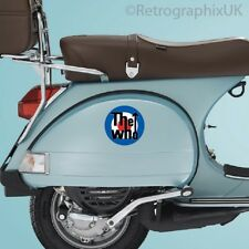 Mod Target Ideal for PX Vespa Sidepanels Printed Decal Mods - The Who Stickers.