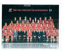 1987 CHICAGO BLACK HAWKS 8X10 TEAM PHOTO HOCKEY NHL HOF