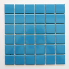 Sample Porcelain Mosaic Tile Sheet Barcelona Glossy Light Blue