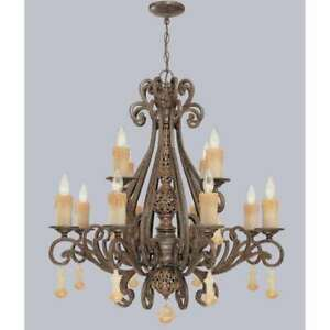 Classic Lighting Riviera Wrought Iron Chandelier, Tortoise Shell - 71158TS