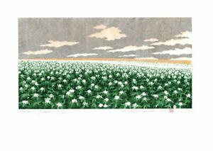 Hill-3 Potato HAJIME NAMIKI Japanese Original Woodblock Print Art 2020 Japan