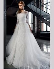 Neck 2 in1 Mermaid Wedding Dress Robe De Mariage Wedding Gowns Dress custom size